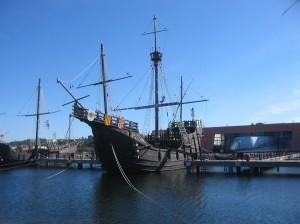 Replica van Columbus' karveel
