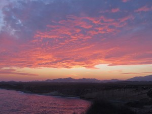 Cabo Cope zonsondergang